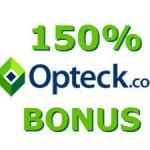 Бонусы и Демо счёт у брокера Opteck
