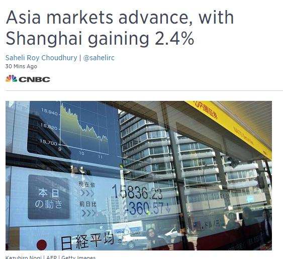 Повышение Азиатских бирж 22 Февраля