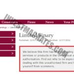 Limited Binary фальшивая лицензия брокера бинарных опционов