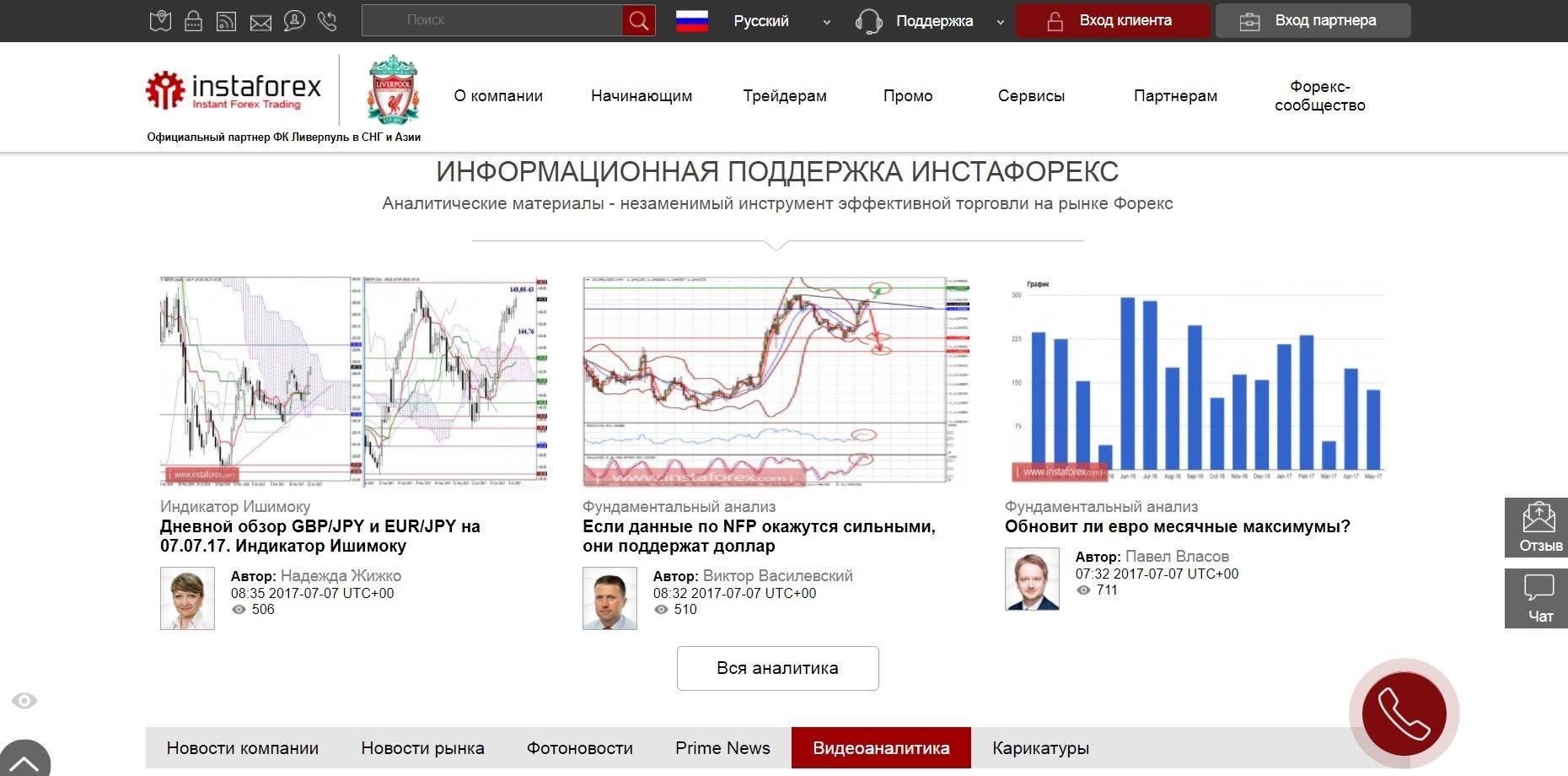 Брокер Инстафорекс на рынке бинарных опционов