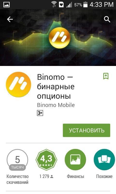 Мобильная платформа Binomo для Android и iOS