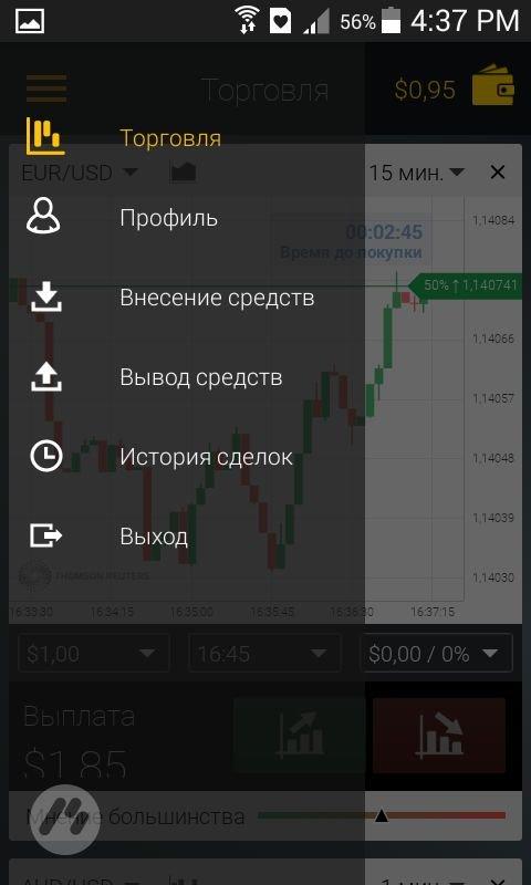 Как проводить транзакции в платформе Binomo?