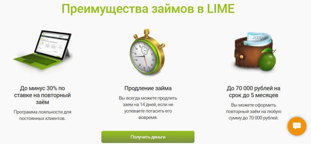 lime-zaim.ru преимущества
