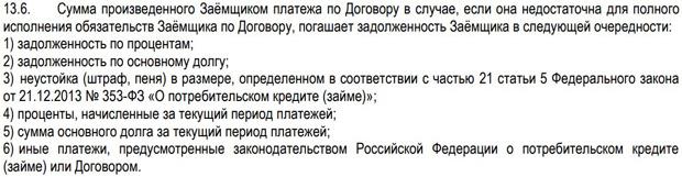 lime-zaim.ru приоритет погашения задолженности