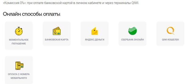 webbankir.com способы погашения задолженности